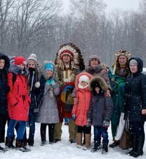 В Фельдман Экопарк состоялось большое костюмированное шоу индейцев